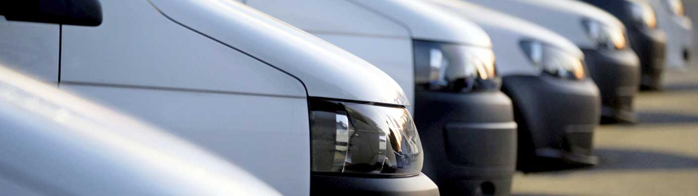 fleet of commercial vehicles
