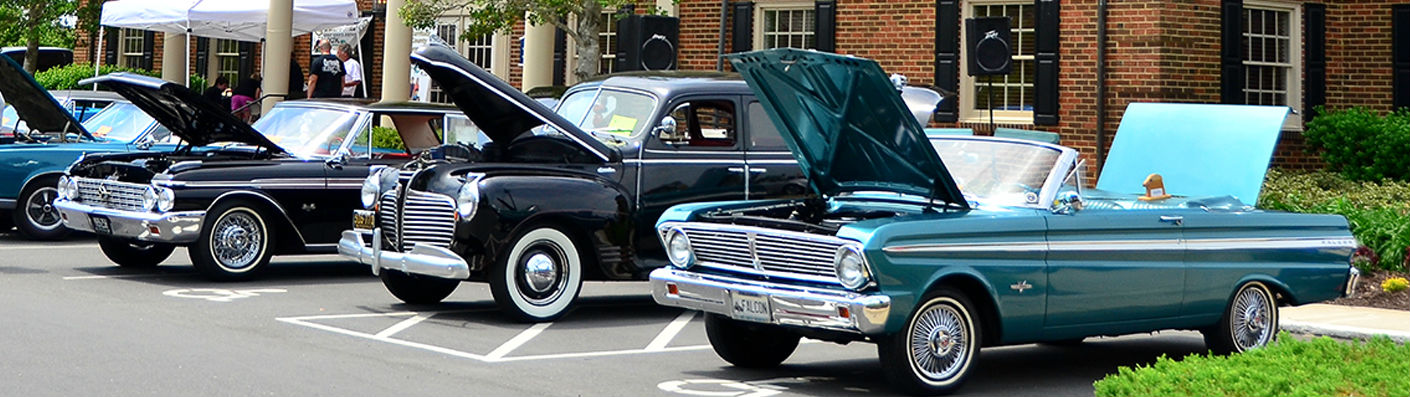 antique auto show at TowneBank Grandy branch